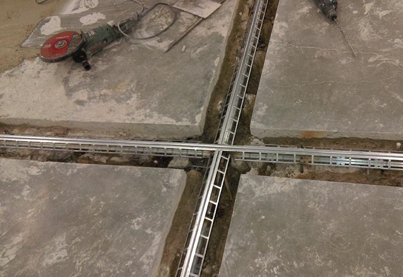 Ремонт усадочных швов в бетонном полу